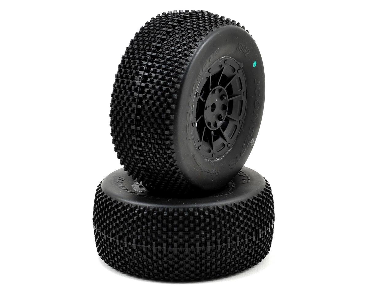 JConcepts Subcultures Pre-Mounted SC Tires (Hazard) (2) (TEN-SCTE) (Green)