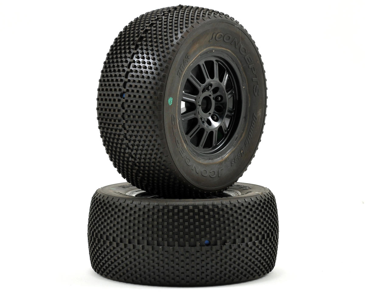 JConcepts Double Dee's Pre-Mounted SC Tires (Rulux) (2) (SC10 Front)