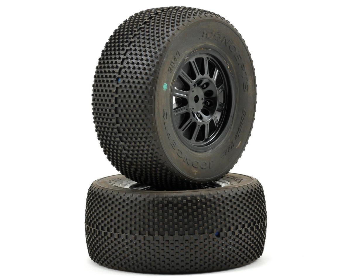 JConcepts Double Dee's Pre-Mounted SC Tires (Rulux) (2) (SC10)
