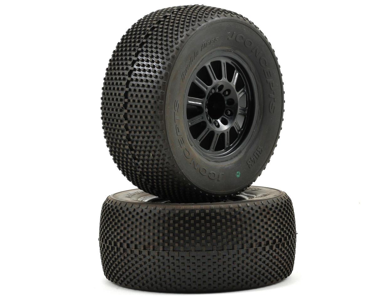 JConcepts Double Dee's Pre-Mounted SC Tires (Rulux) (2) (Slash/Front)