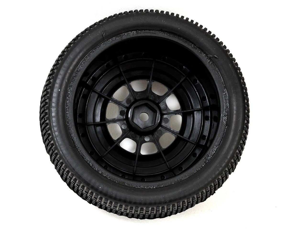 JConcepts Double Dee's Pre-Mounted SC Tires (Hazard) (2) (Black) (Green)