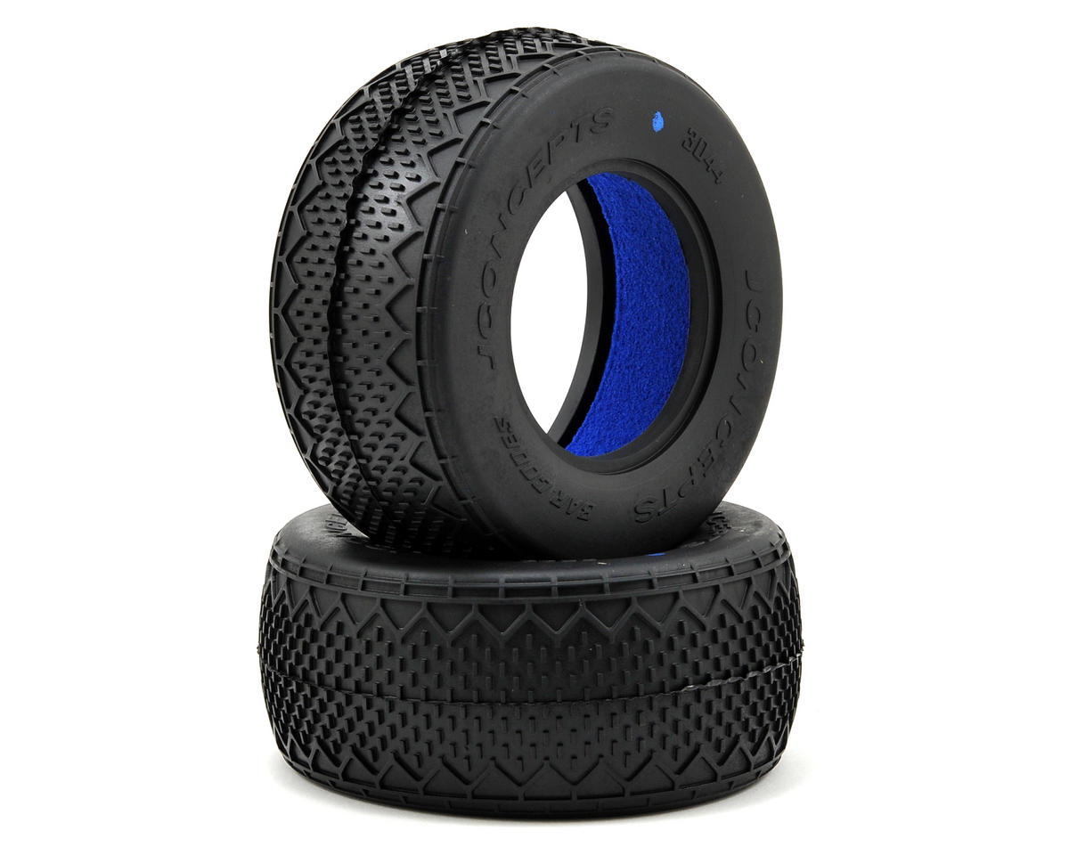 Bar Codes Short Course Tires (2) (Blue) by JConcepts