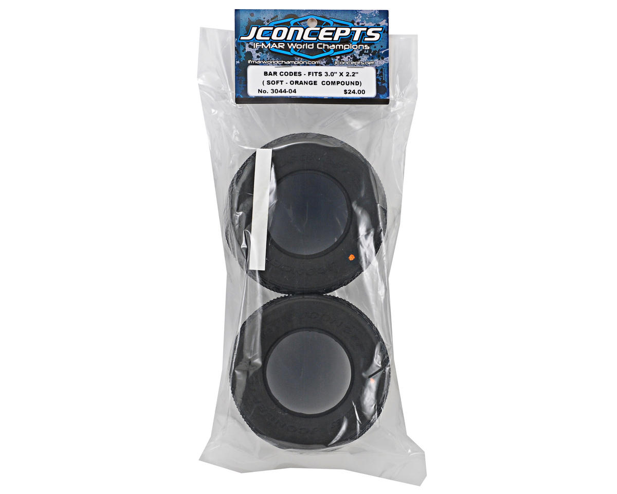 Bar Codes Short Course Tires (2) (Orange) by JConcepts
