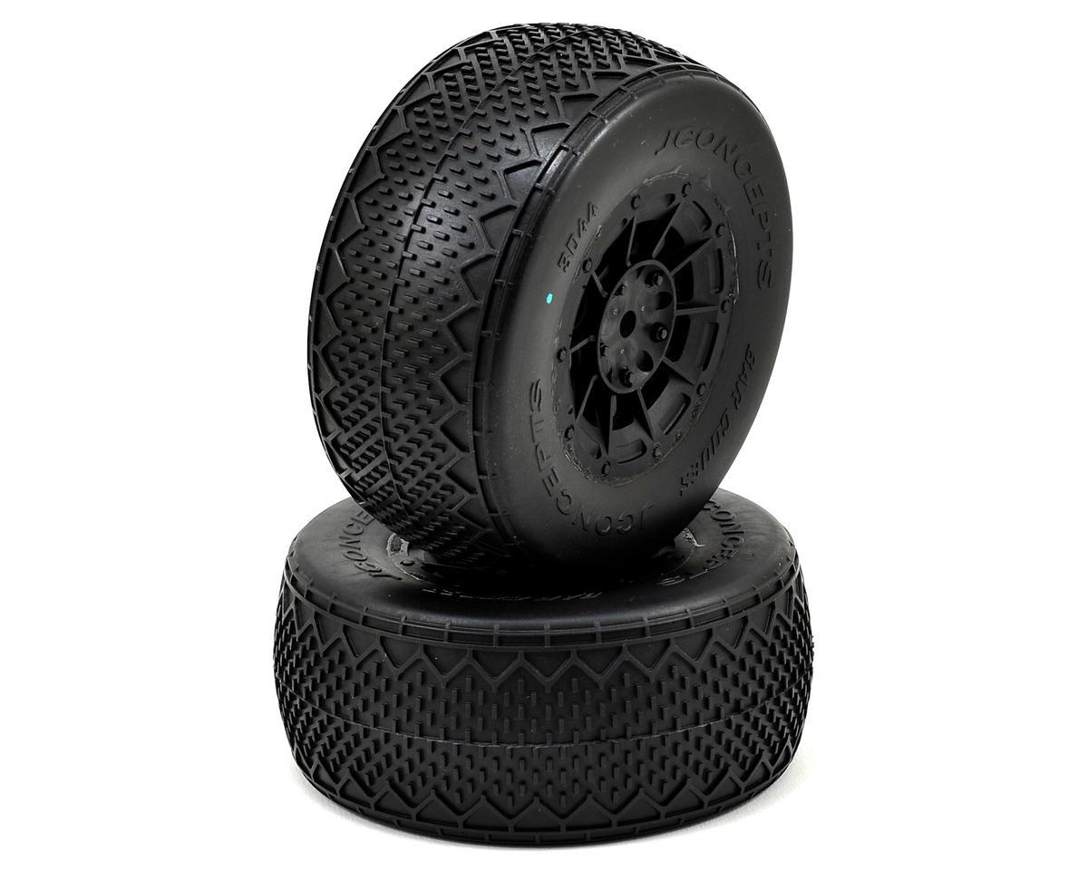 JConcepts Bar Codes Pre-Mounted Tires (Hazard) (Green) (2) (TEN-SCTE)