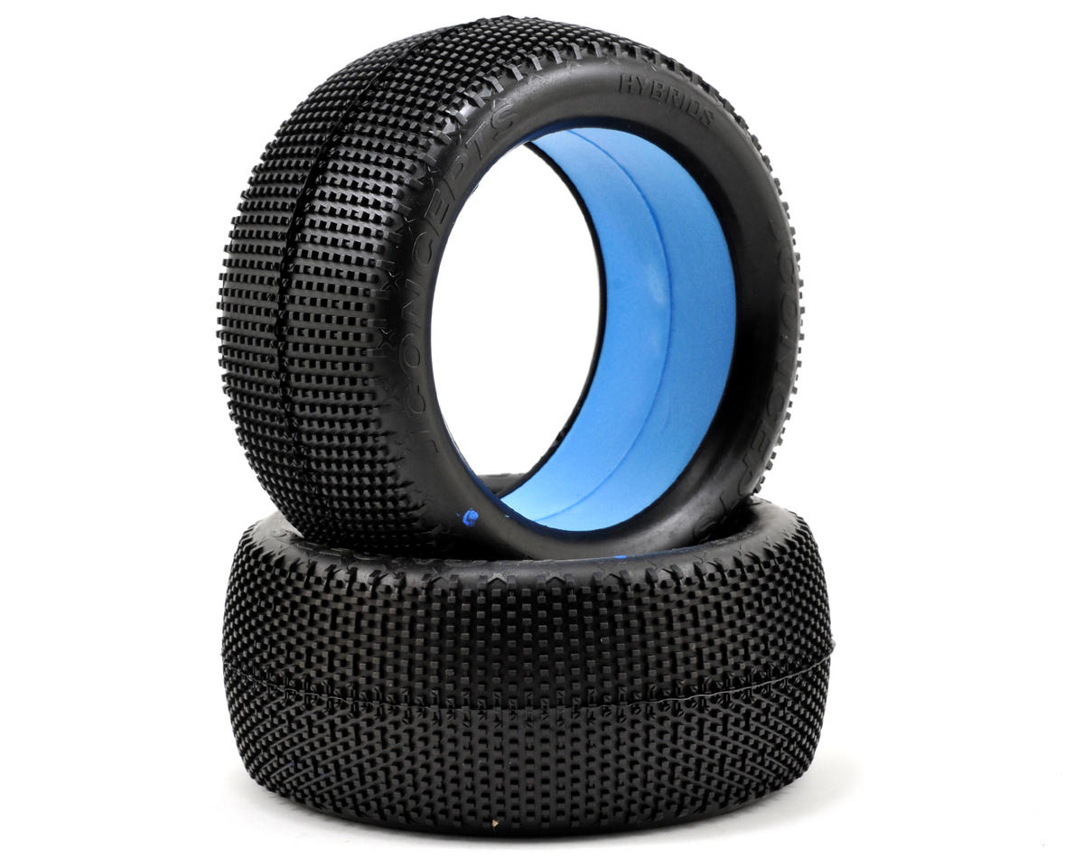 "Hybrid ""Elevated Bead"" 1/8th Truggy Tires (2) by JConcepts"