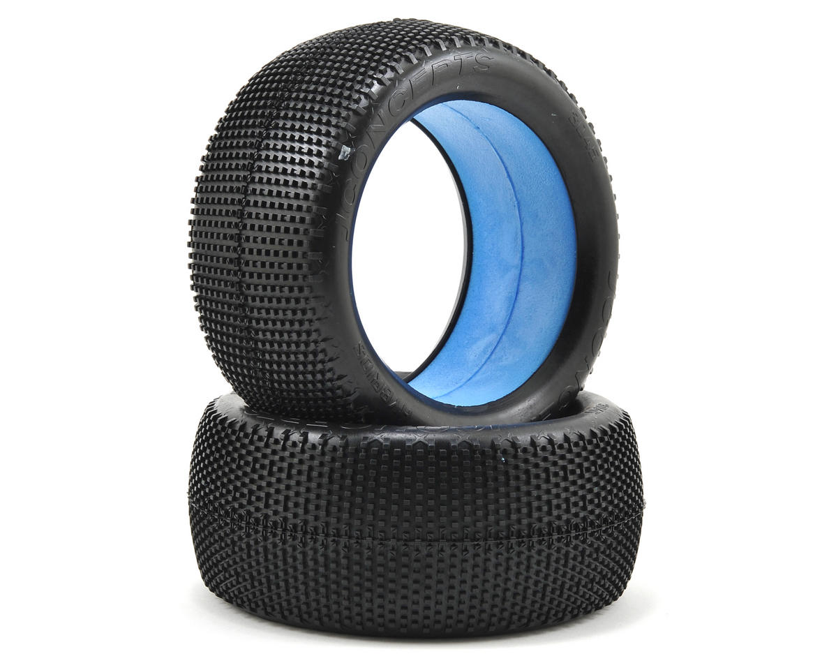 """JConcepts Hybrid """"Elevated Bead"""" 1/8th Truggy Tires (2) (Green)"""