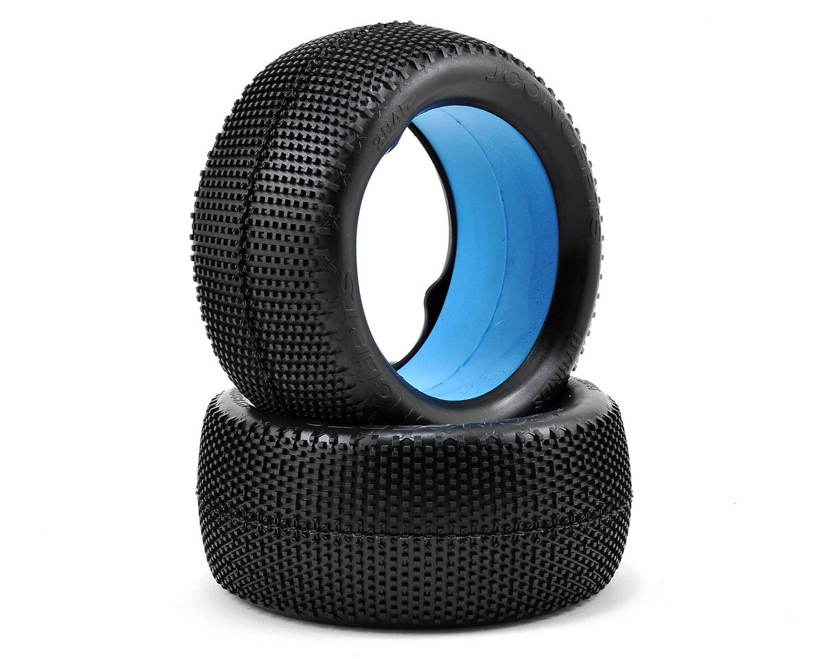"""Hybrid """"Elevated Bead"""" 1/8th Truggy Tires (2) (Black) by JConcepts"""