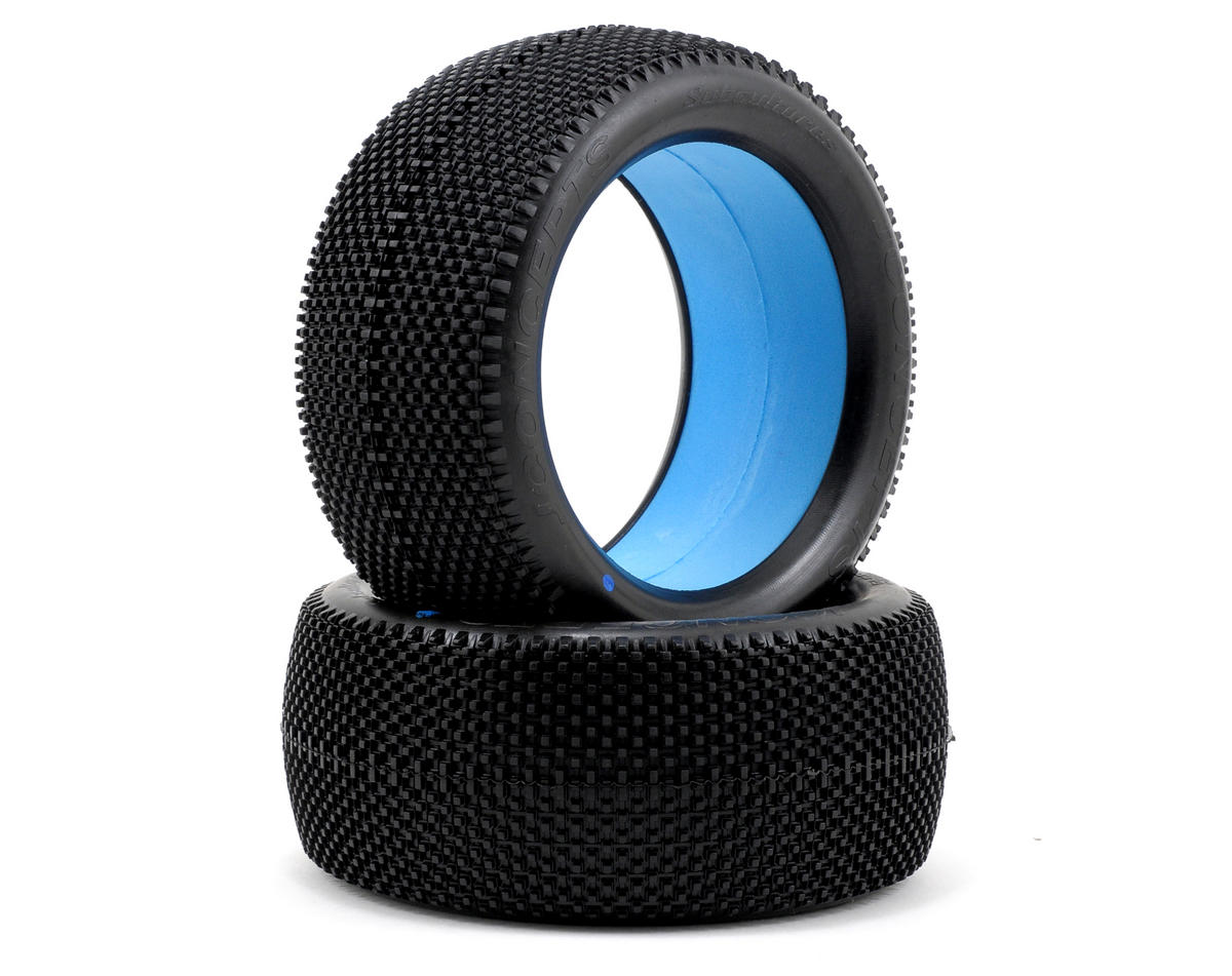 """JConcepts Subcultures """"EB"""" 1/8th Truggy Tires (2) (Blue)"""