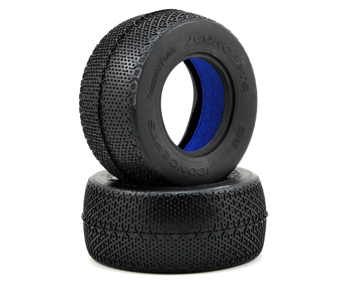 Pressure Points Short Course Tires (2) (Blue) by JConcepts