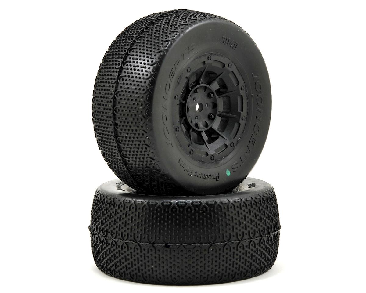 JConcepts Pressure Points Pre-Mounted SC Tires (Hazard) +3mm Wheel (2)