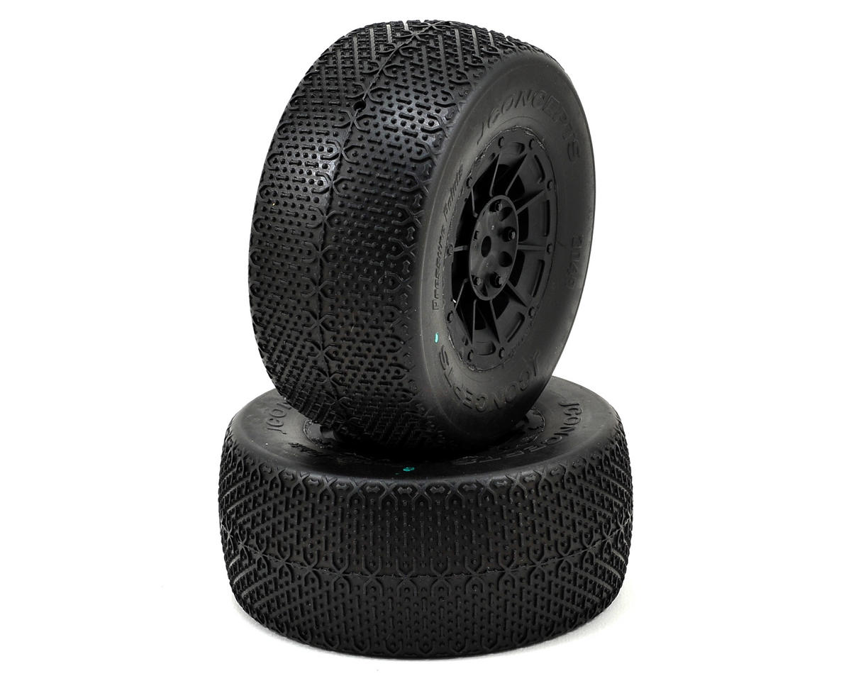 JConcepts Pressure Points Pre-Mounted SC Tires (Hazard) (2) (Green)