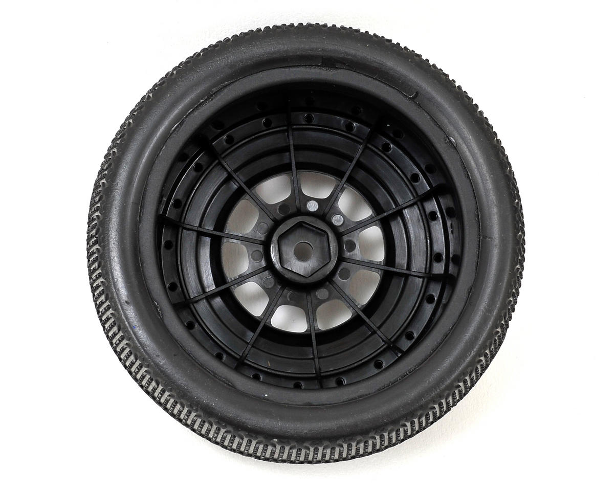 JConcepts Pressure Points Pre-Mounted SC Tires (Hazard) (2)