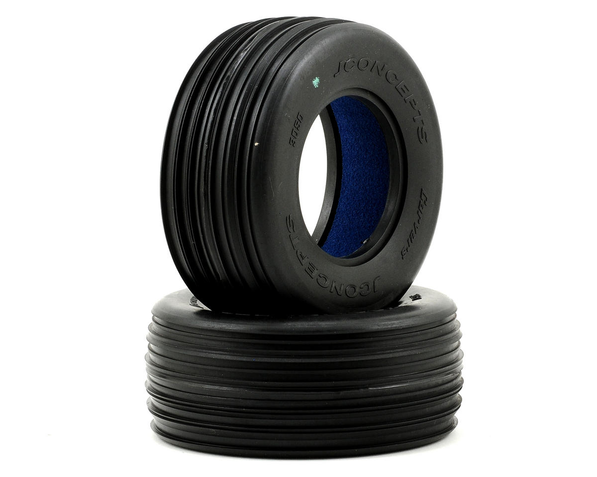Carvers Front Short Course Tires (2) (Green) by JConcepts