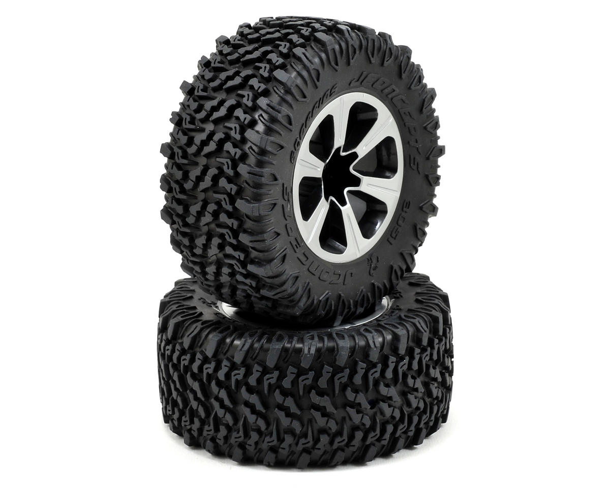JConcepts Scorpios Pre-Mounted SC Tires w/Hustle Wheel (2) (Slash Front