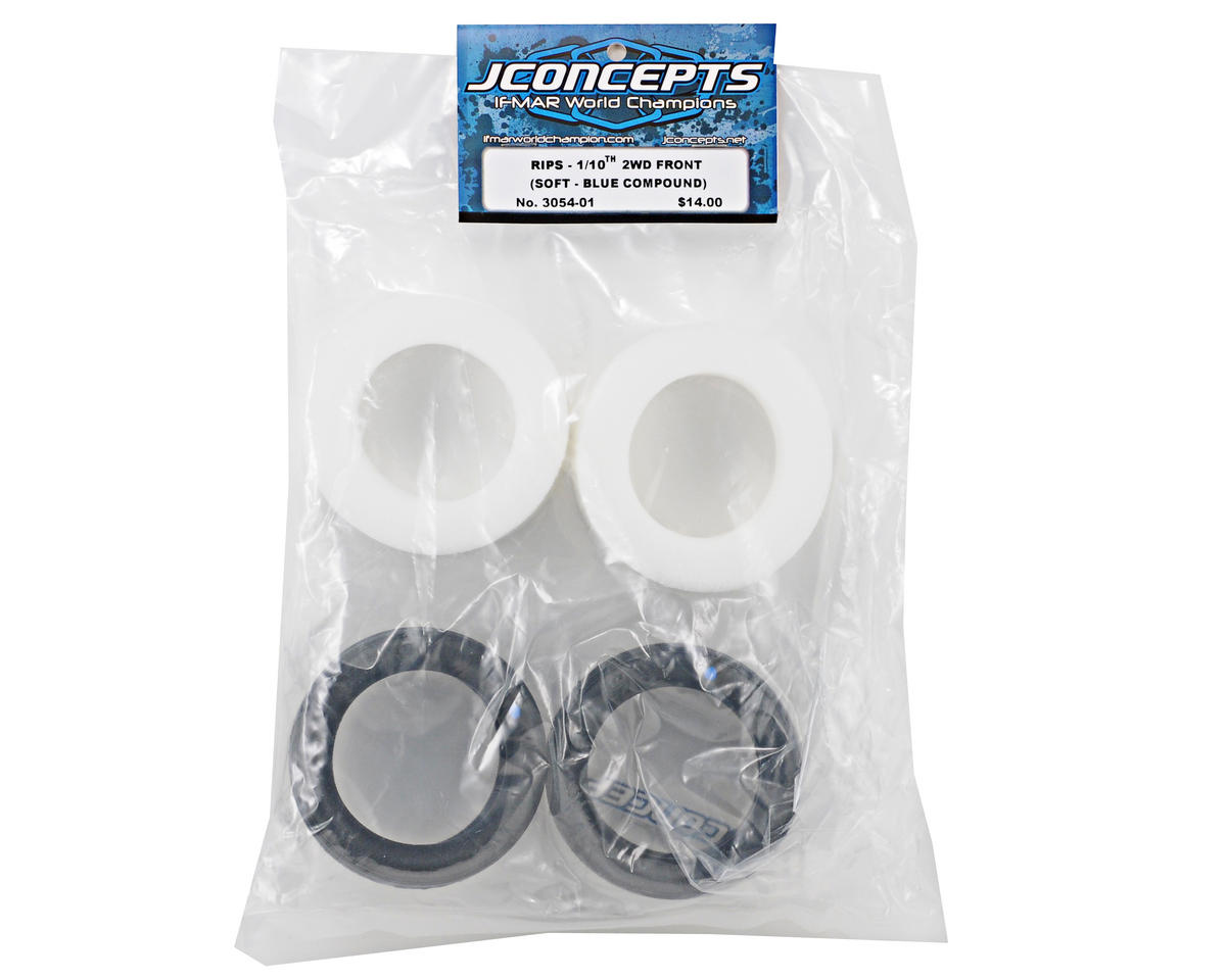 "JConcepts Rips 2.2"" 2WD Front Buggy Tires (2) (Blue)"