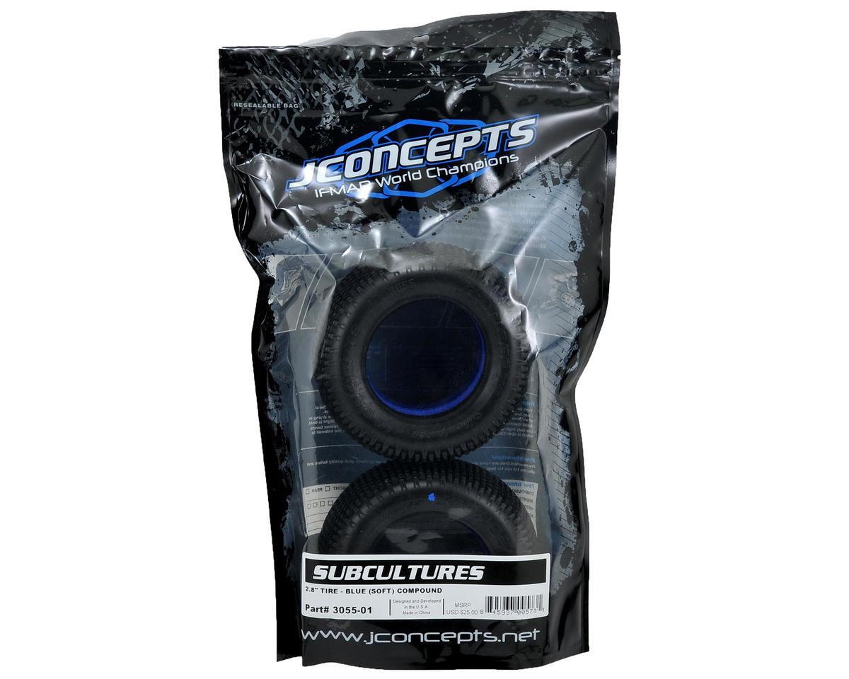 """JConcepts Subcultures 2.8"""" Truck Tires (2) (Blue)"""
