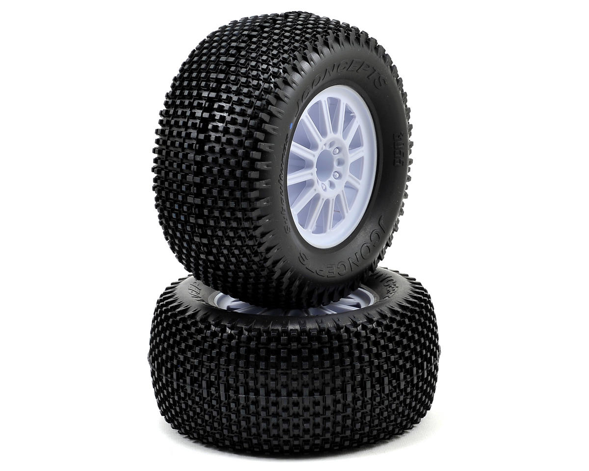 "JConcepts Subcultures 2.8"" Pre-Mounted (Rulux) Rear Wheels (2) (Black)"