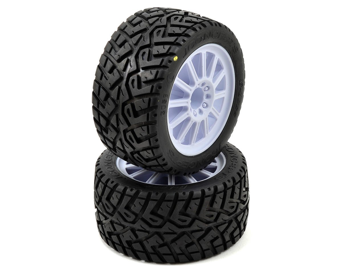 JConcepts G-Locs 2.8 Pre-Mounted (Rulux) Rear Wheels (2) (Yellow) (Traxxas Rustler)