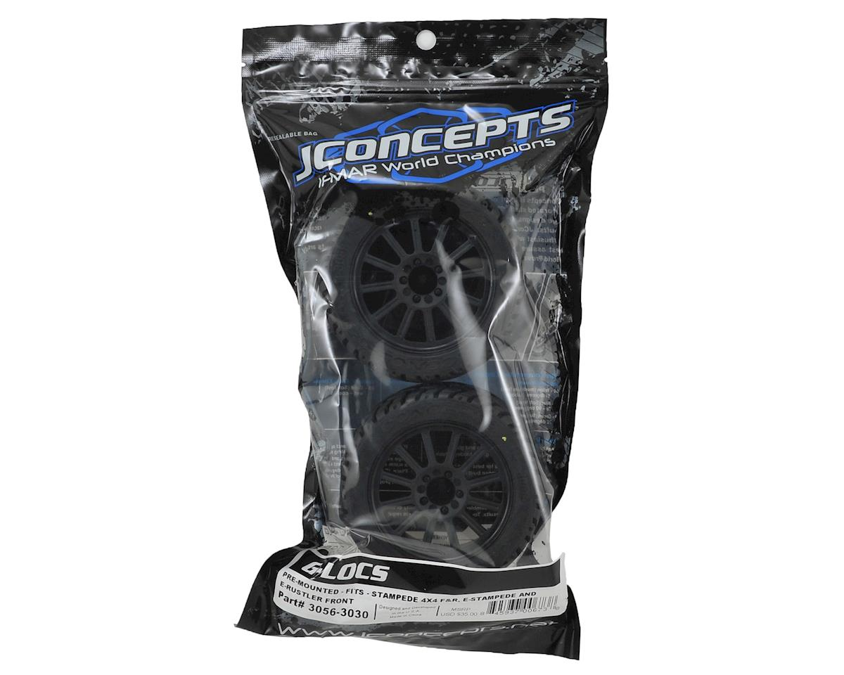 G-Locs 2.8 Pre-Mounted (Rulux) Front Wheels (2) (White) (Yellow) by JConcepts