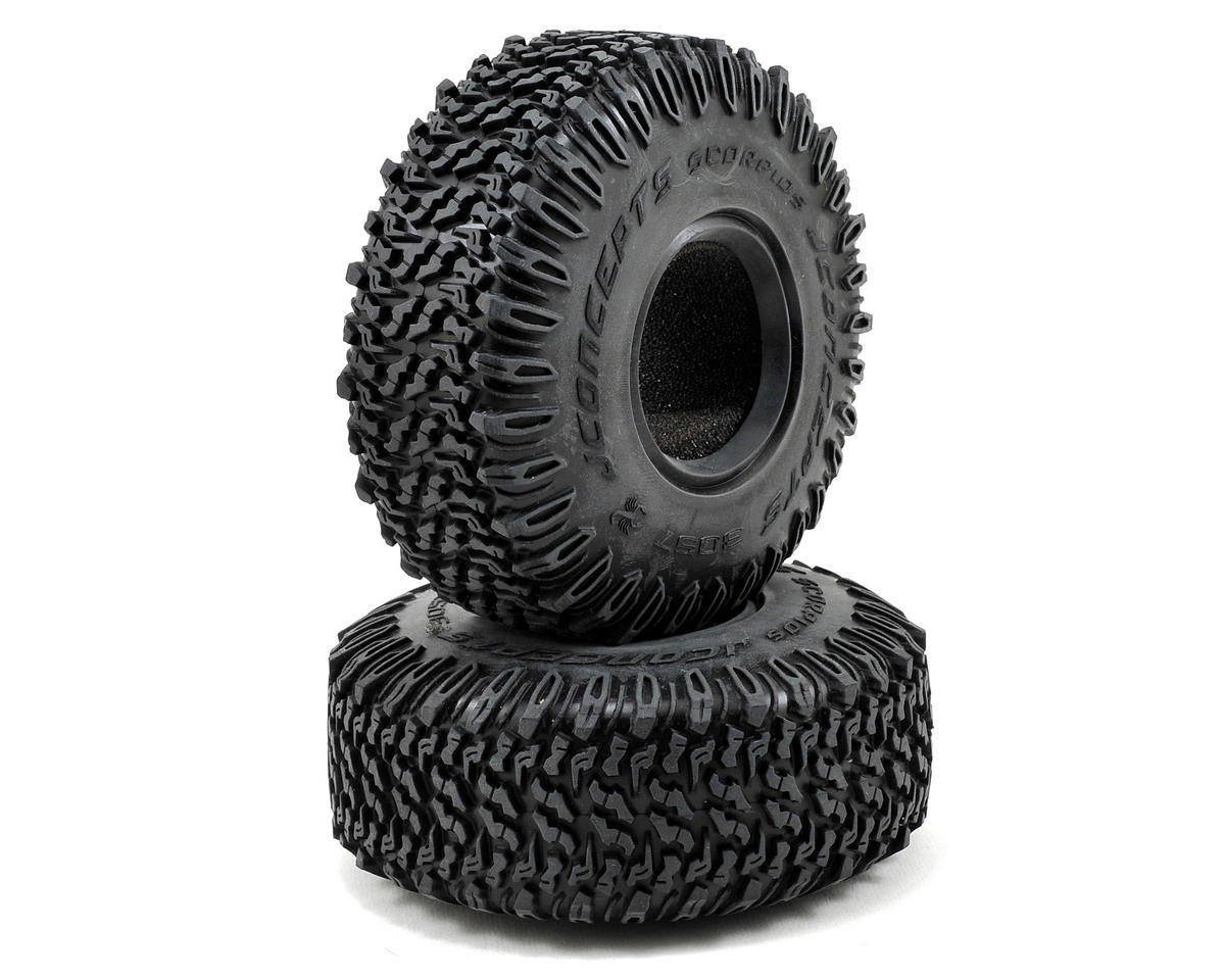 "JConcepts Scorpios 1.9"" All Terrain Tires (2) (Green)"