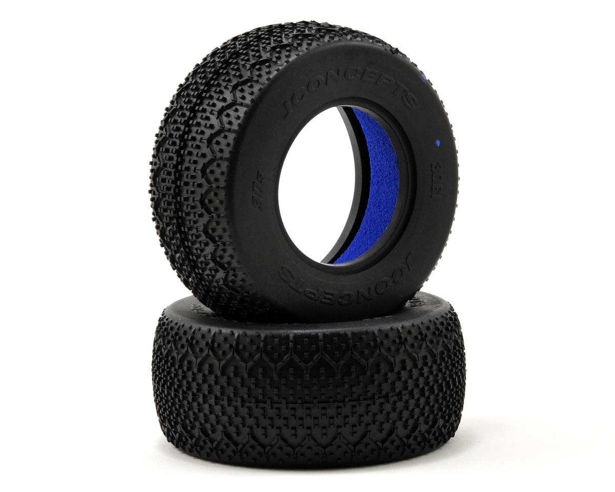 3D's Short Course Tires (2) (Blue) by JConcepts