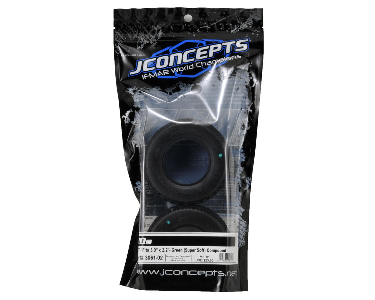 JConcepts 3D's Short Course Tires (2) (Green)