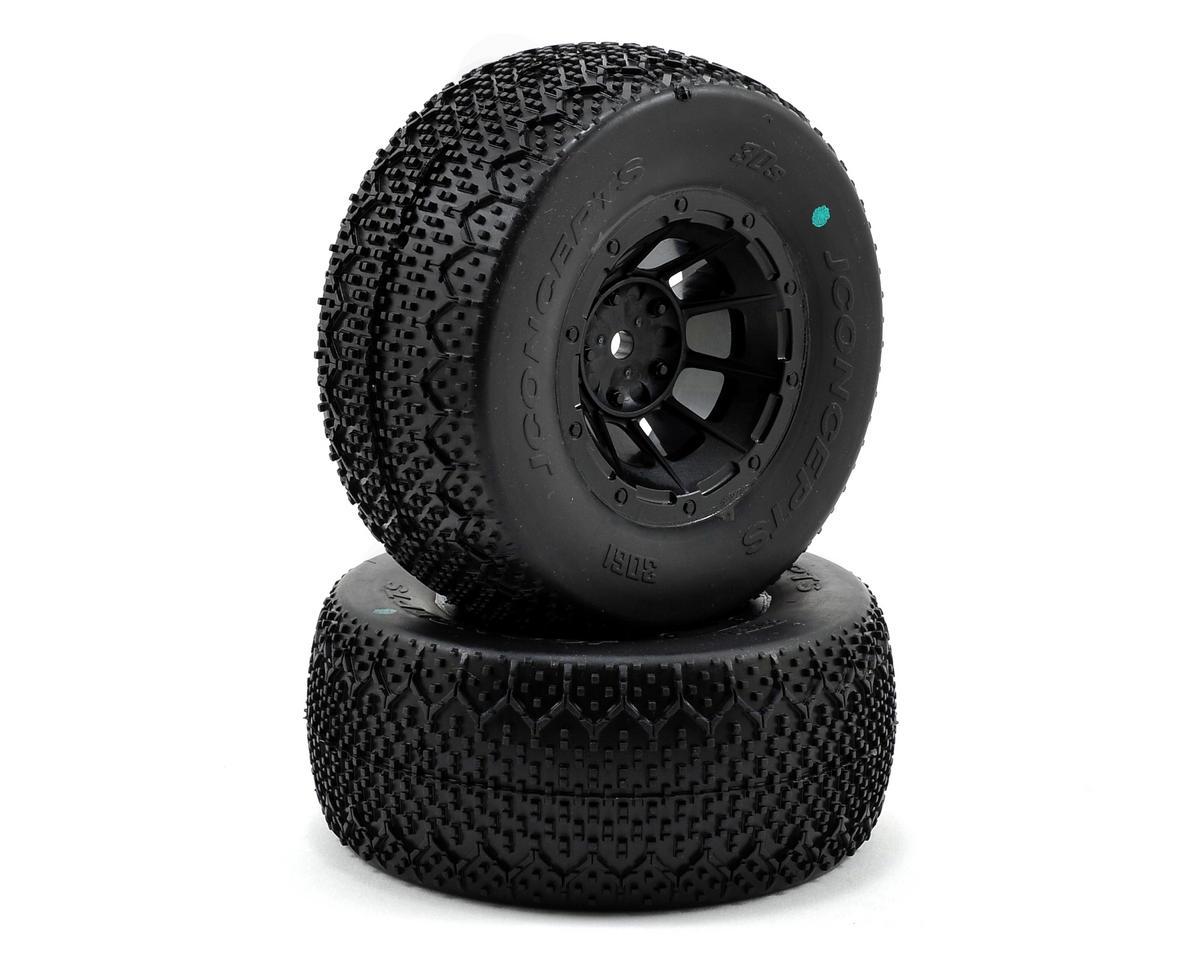 JConcepts 3D's Pre-Mounted SC Tires (Hazard) (2) (Slash Front)