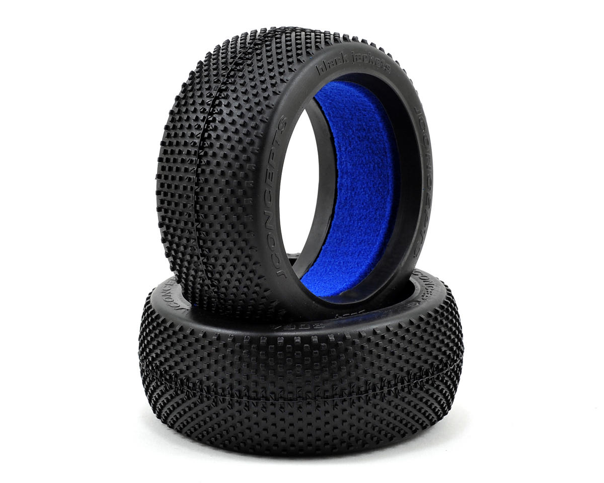 JConcepts Black Jackets 1/8th Buggy Tires (2) (Black)