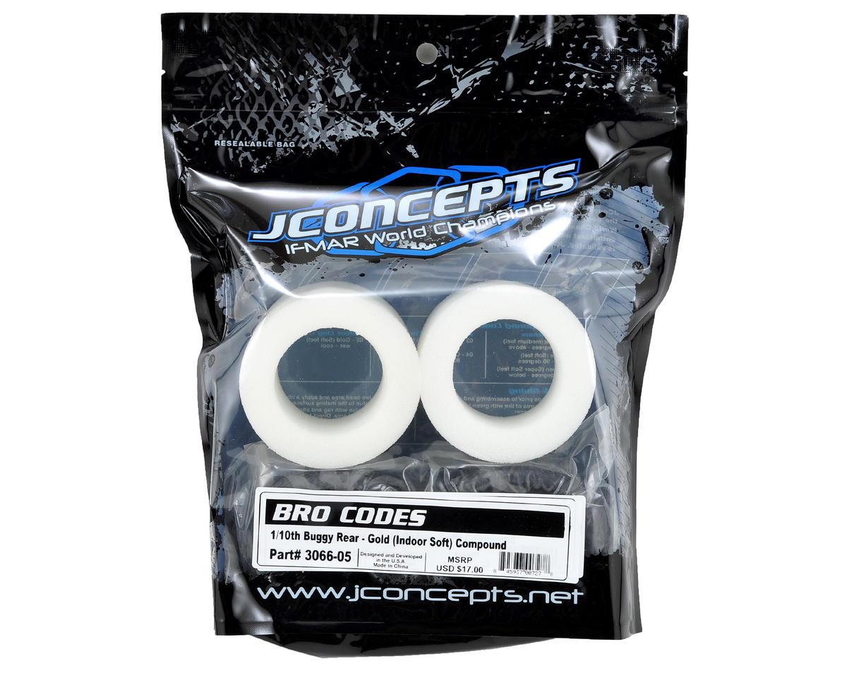 "JConcepts Bro Codes 2.2"" Rear Buggy Tires (2) (Gold)"
