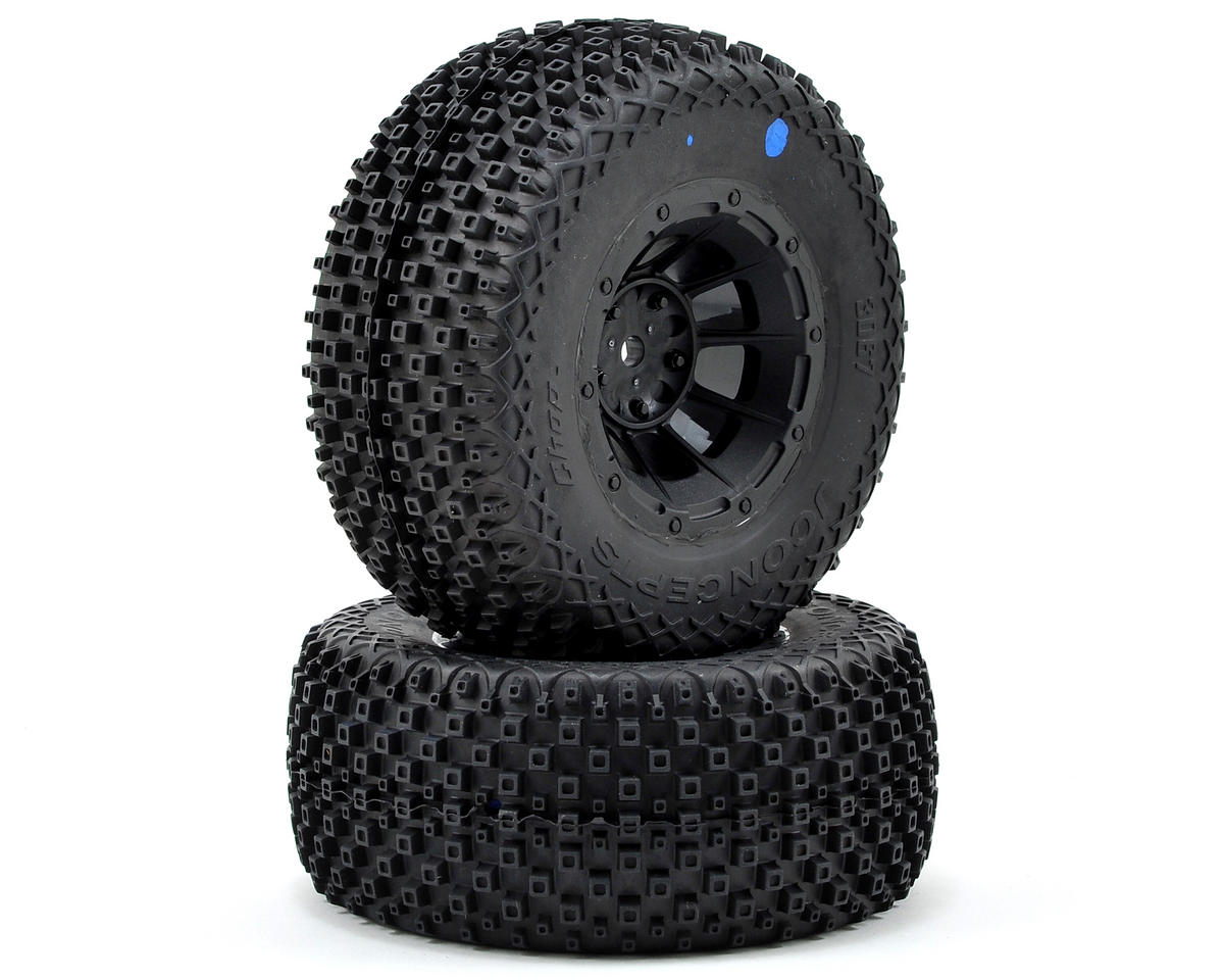 JConcepts Choppers Pre-Mounted SC Tires (Hazard) (2) (Slash Front)