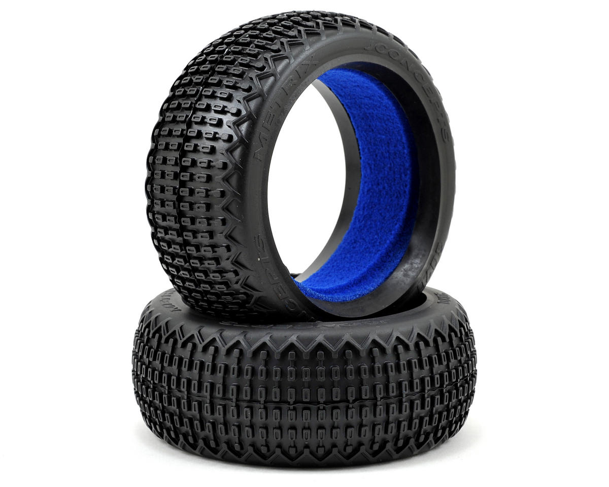 JConcepts Metrix 1/8th Buggy Tires (2) (Black)