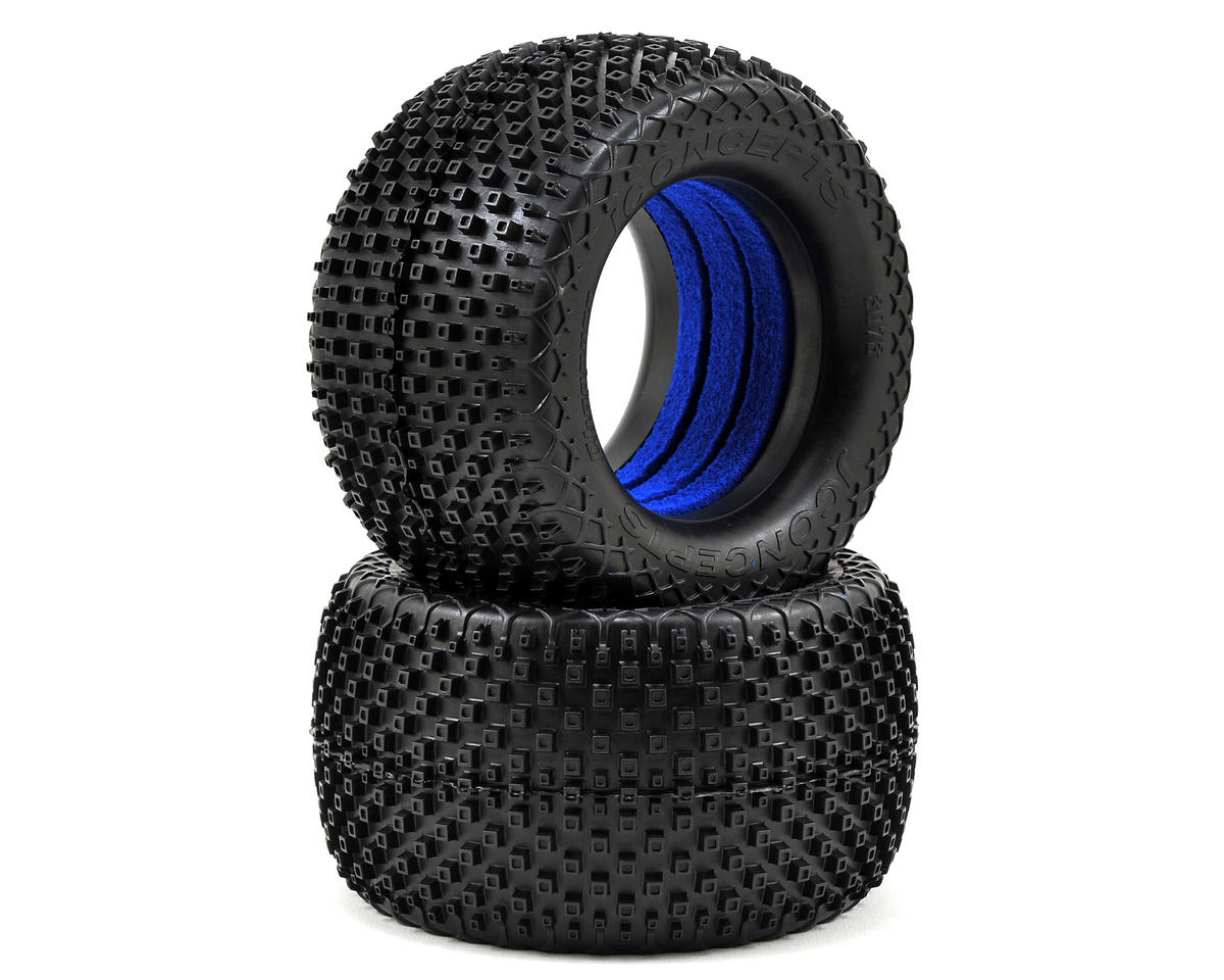 "JConcepts Choppers 2.8"" Truck Tires (2) (Blue)"