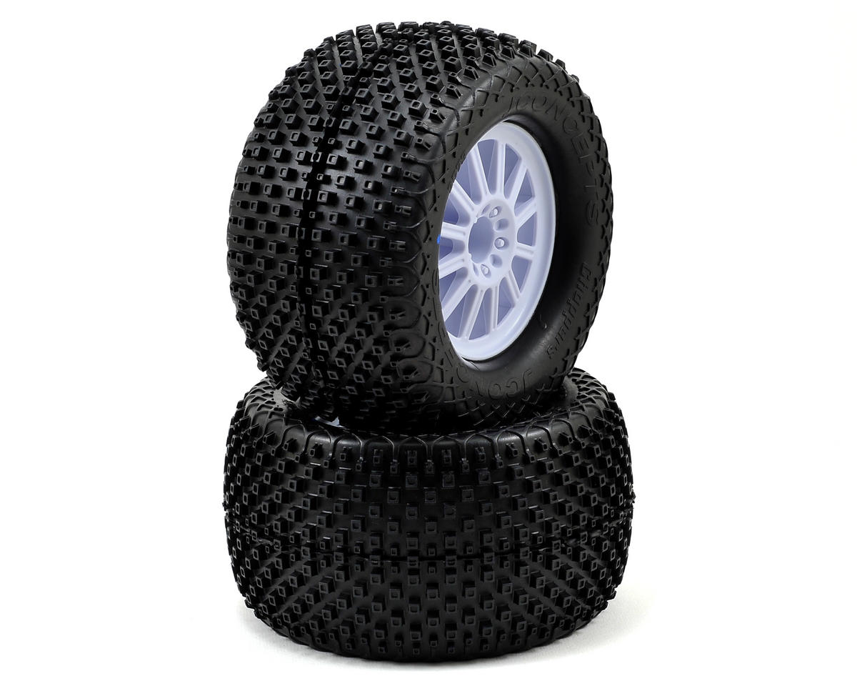 Choppers 2.8 Pre-Mounted (Rulux) Front Wheels (2) (Black) by JConcepts