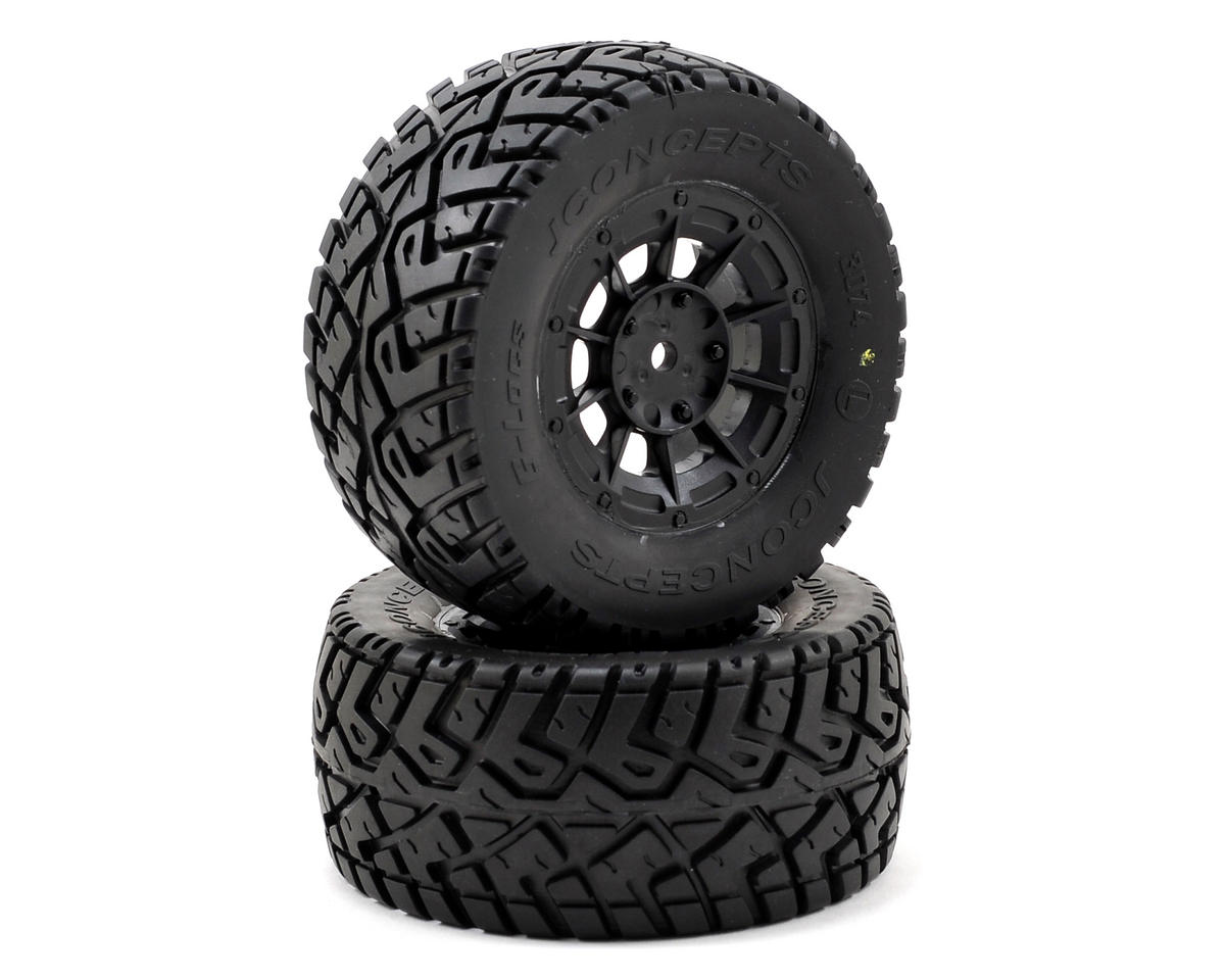 JConcepts G-Locs Pre-Mounted SC Tires (Hazard) (2) (22SCT/TEN-SCTE)
