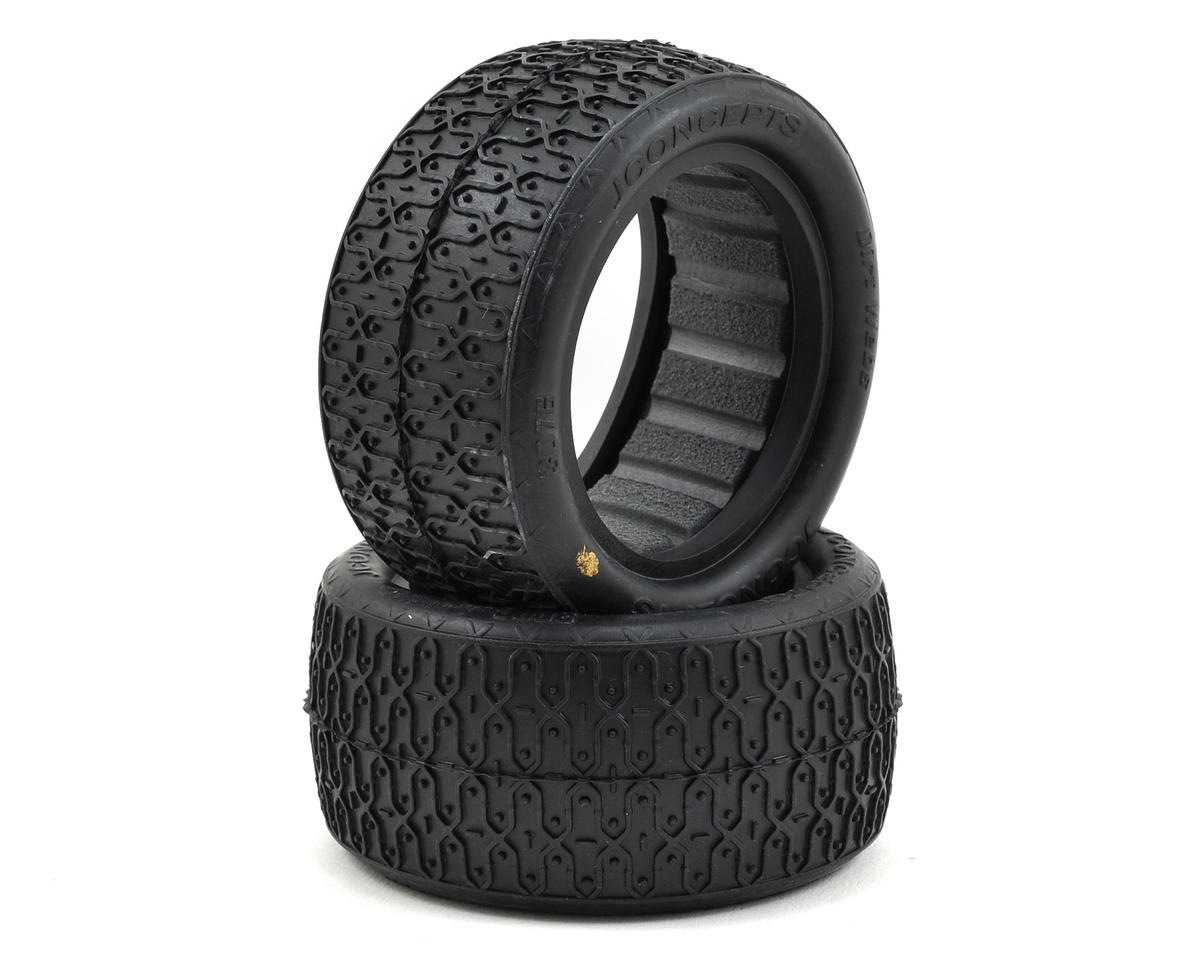 "JConcepts Dirt Webs 2.2"" Rear Buggy Tires w/Dirt Tech Inserts (2) (Gold)"