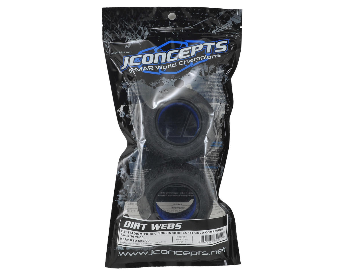 "JConcepts Dirt Webs 2.2"" Truck Tires (2) (Gold)"