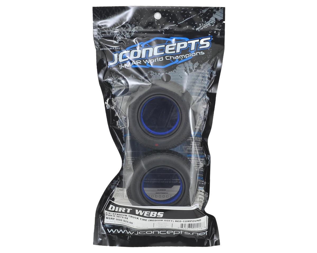 "JConcepts Dirt Webs 2.2"" Truck Tires (2) (Red)"