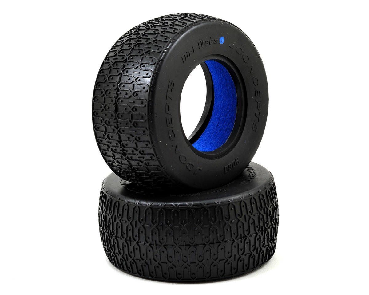 JConcepts Dirt Webs Short Course Tires (2) (Blue)