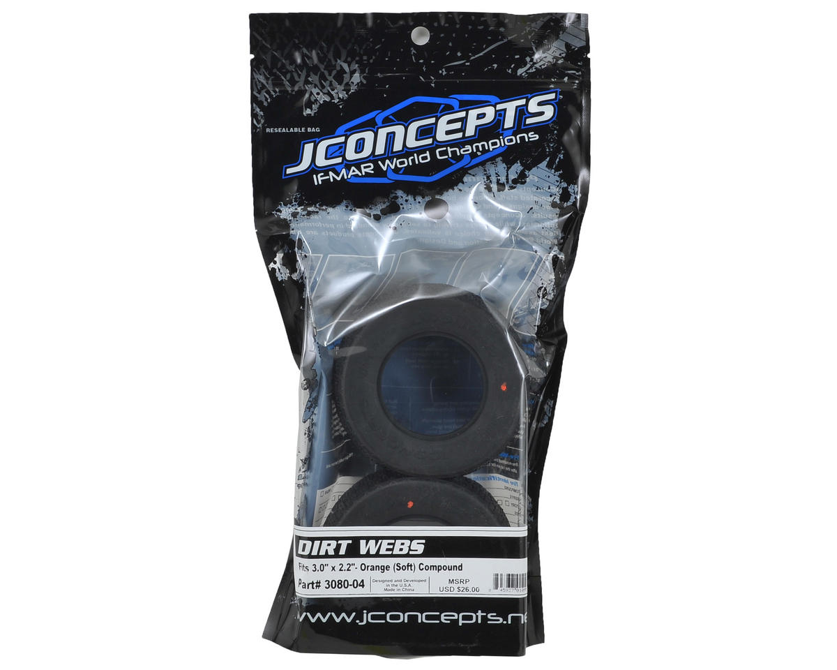 JConcepts Dirt Webs Short Course Tires (2) (Orange)