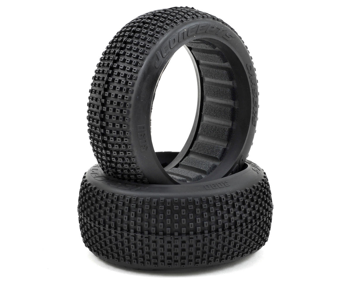 Chasers 1/8th Buggy Tire (2) (Black) by JConcepts