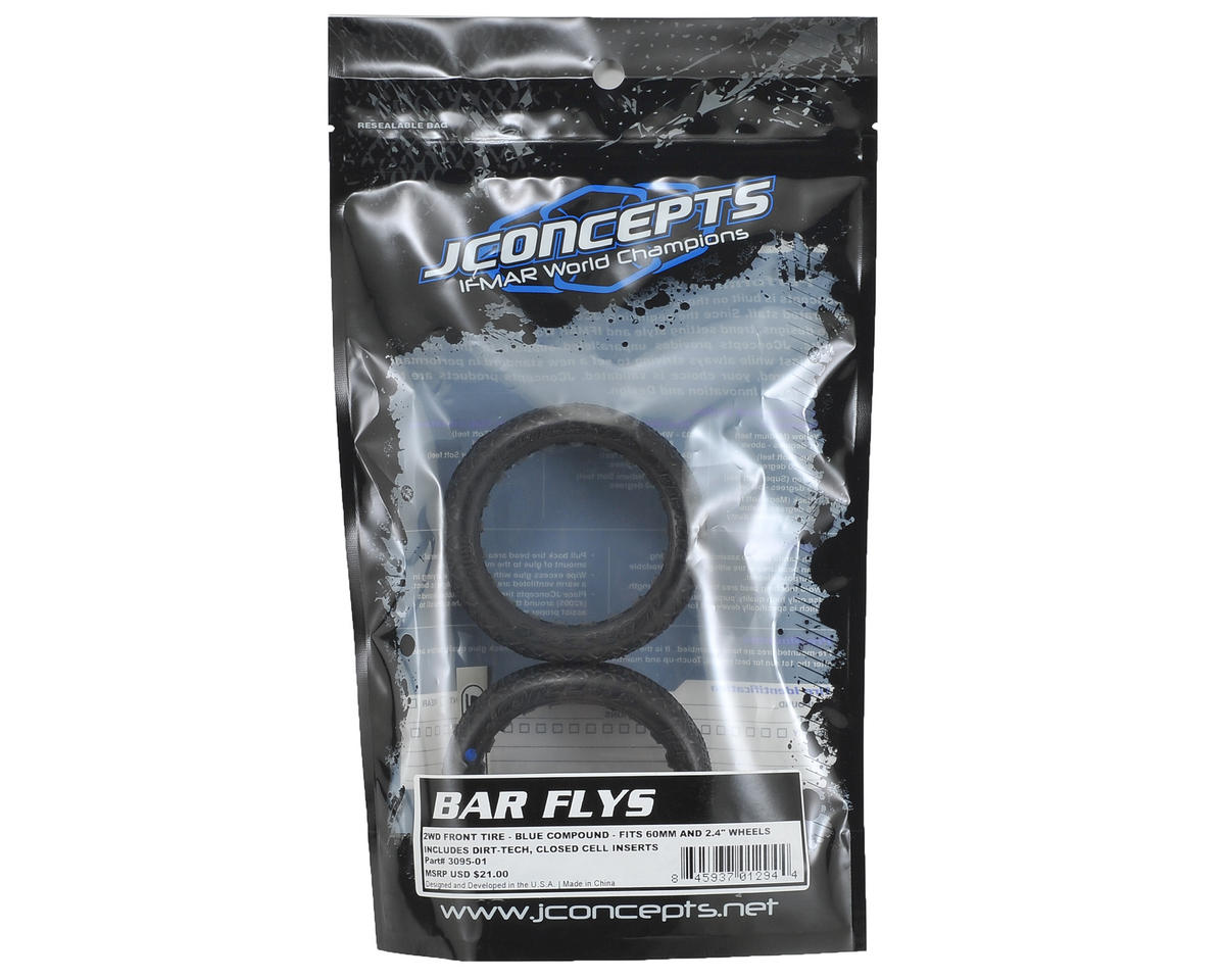 JConcepts Bar Flys 60mm 2WD Front Buggy Tires (2) (Blue)