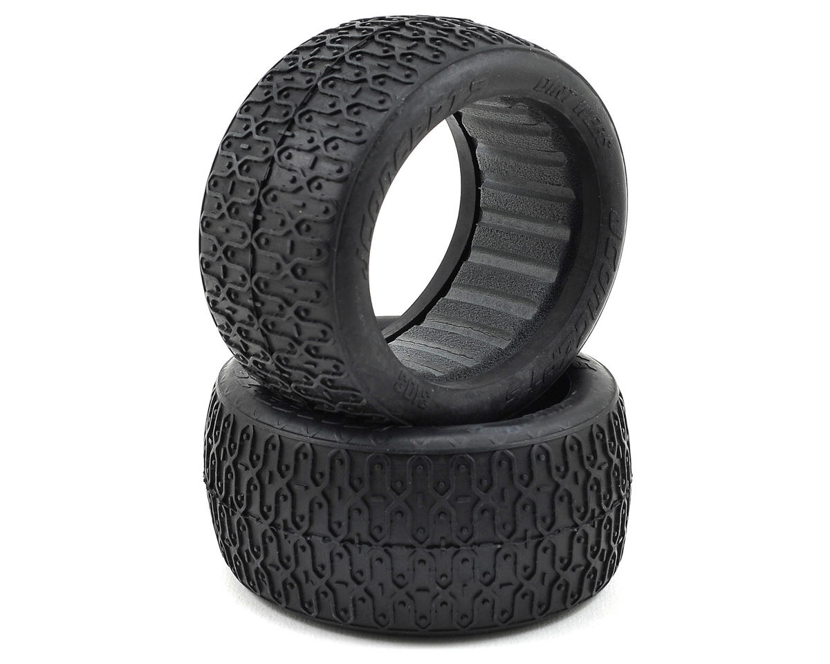JConcepts Dirt Webs 60mm Rear Buggy Tires (2) (Silver)