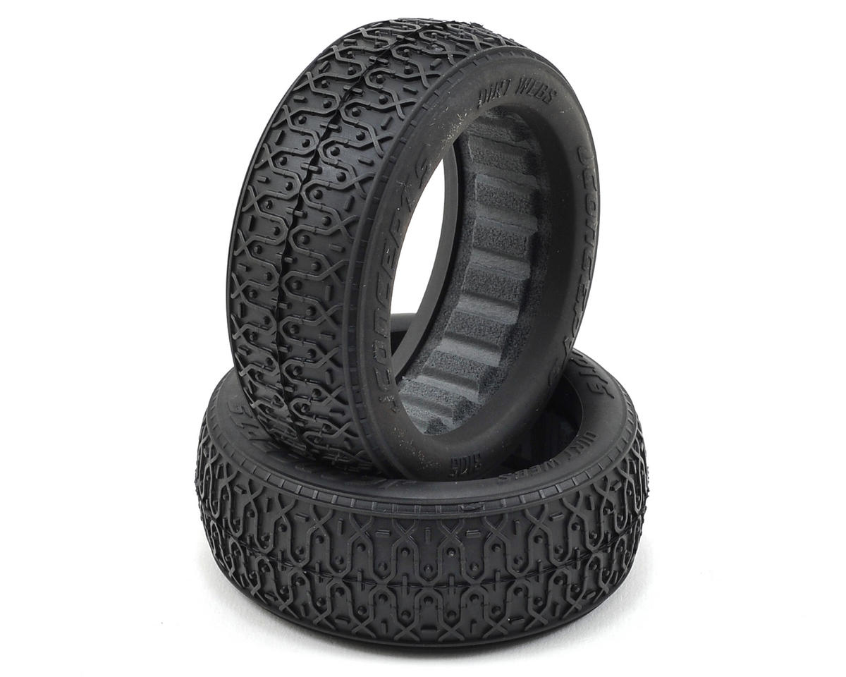 JConcepts Dirt Webs 60mm 4WD Front Buggy Tires (2) (Green)