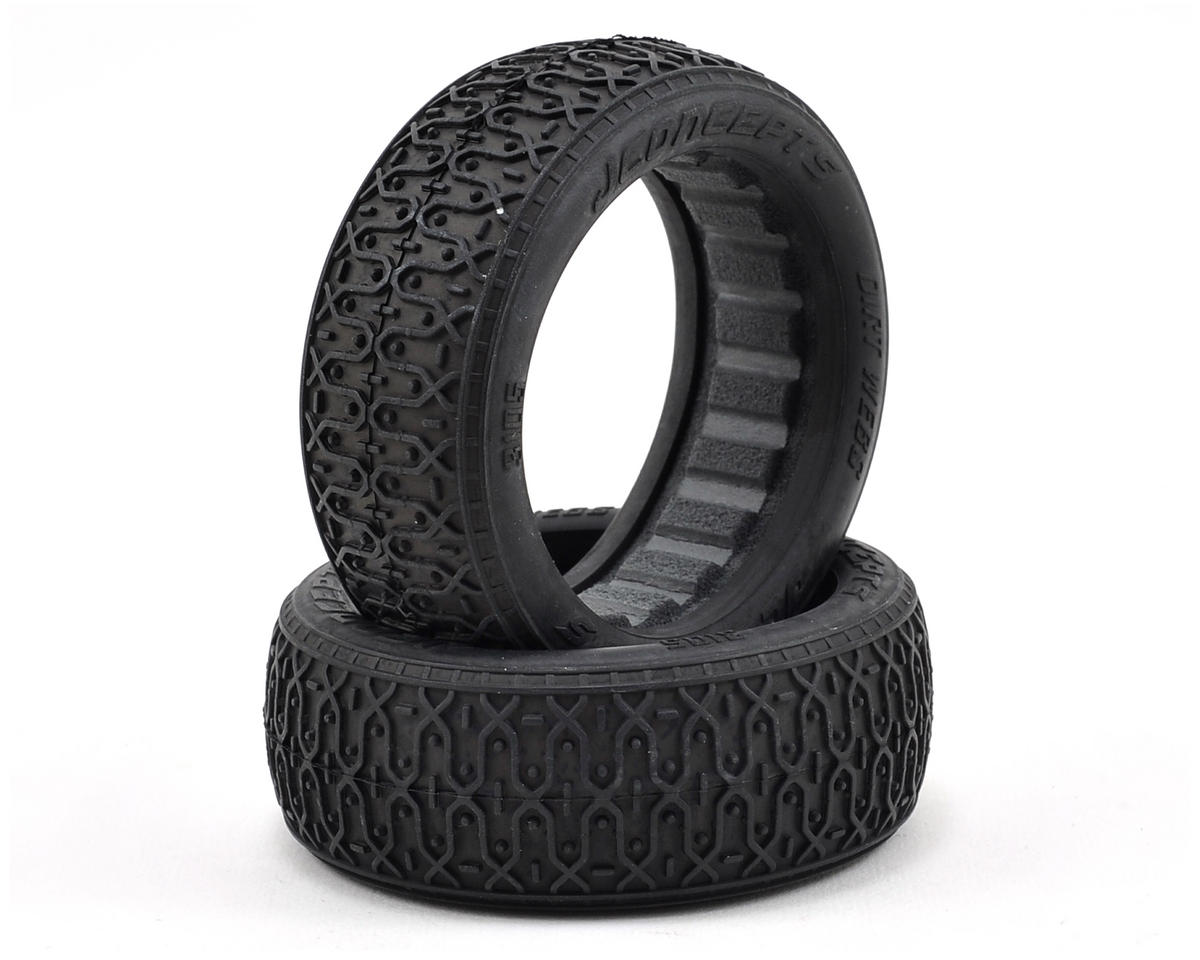 JConcepts Dirt Webs 60mm 4WD Front Buggy Tires (2) (Silver)