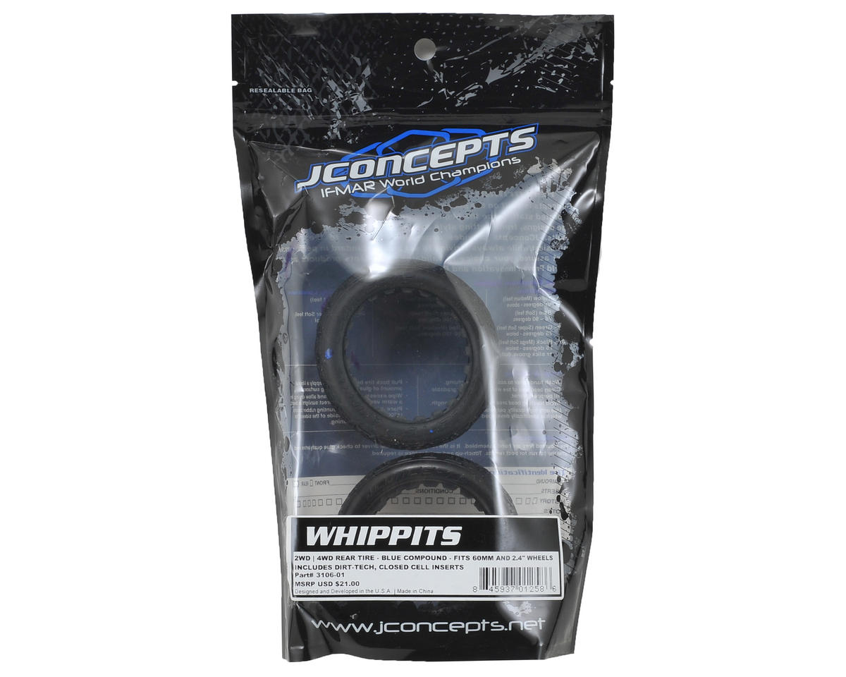 JConcepts Whippits 60mm Rear Buggy Tires (2) (Blue)
