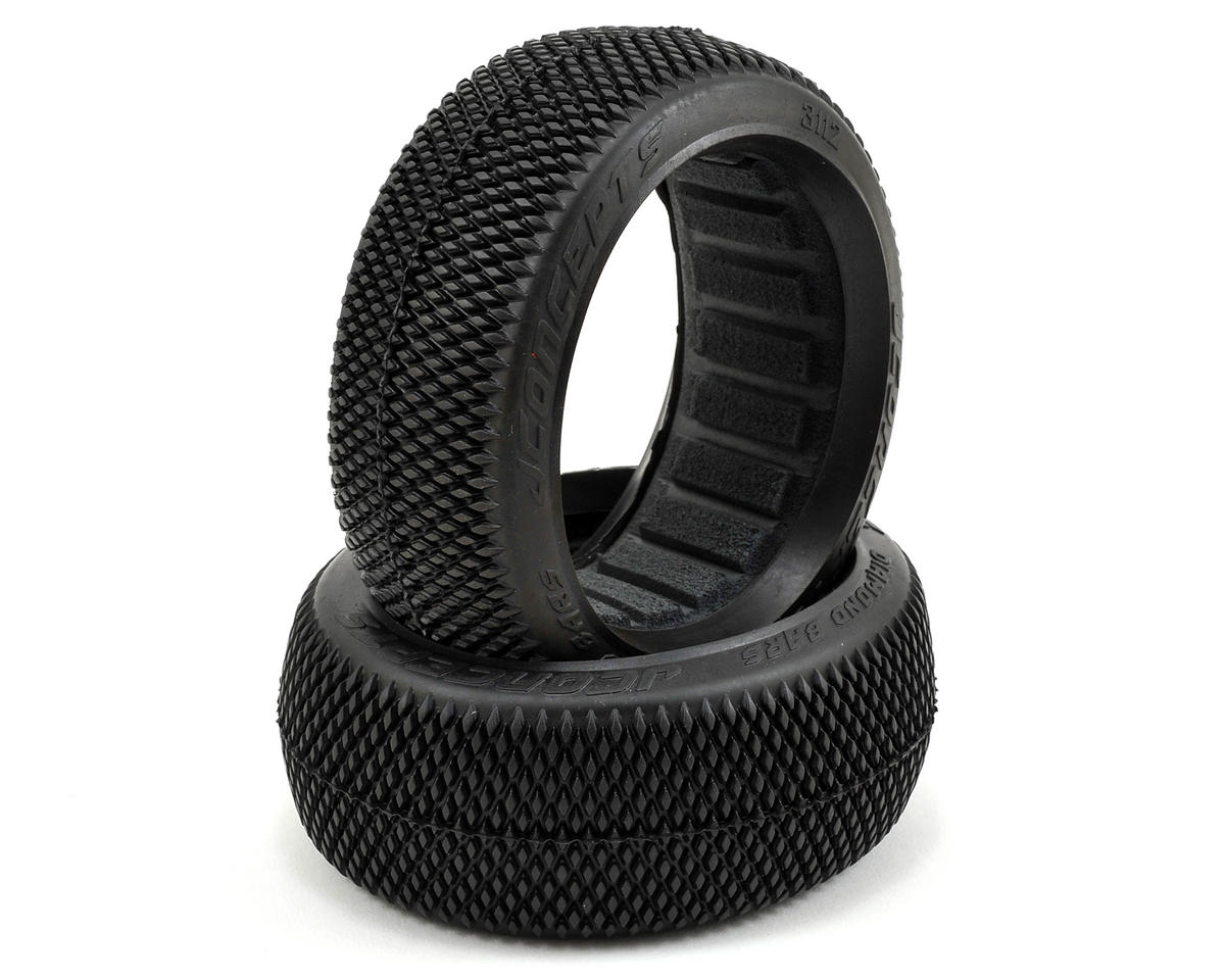 JConcepts Diamond Bars 1/8 Buggy Tires (2) (Green)