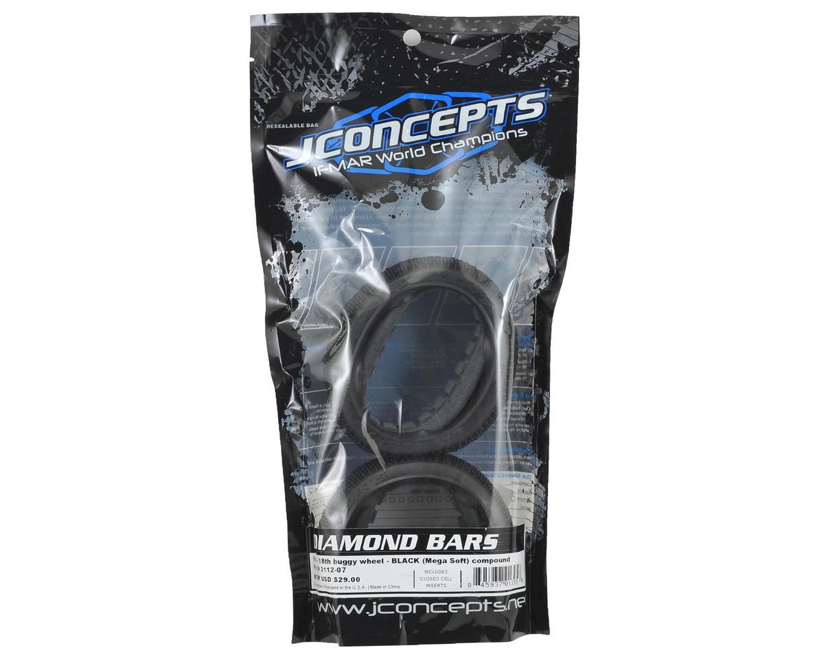 JConcepts Diamond Bars 1/8 Buggy Tires (2) (Black)