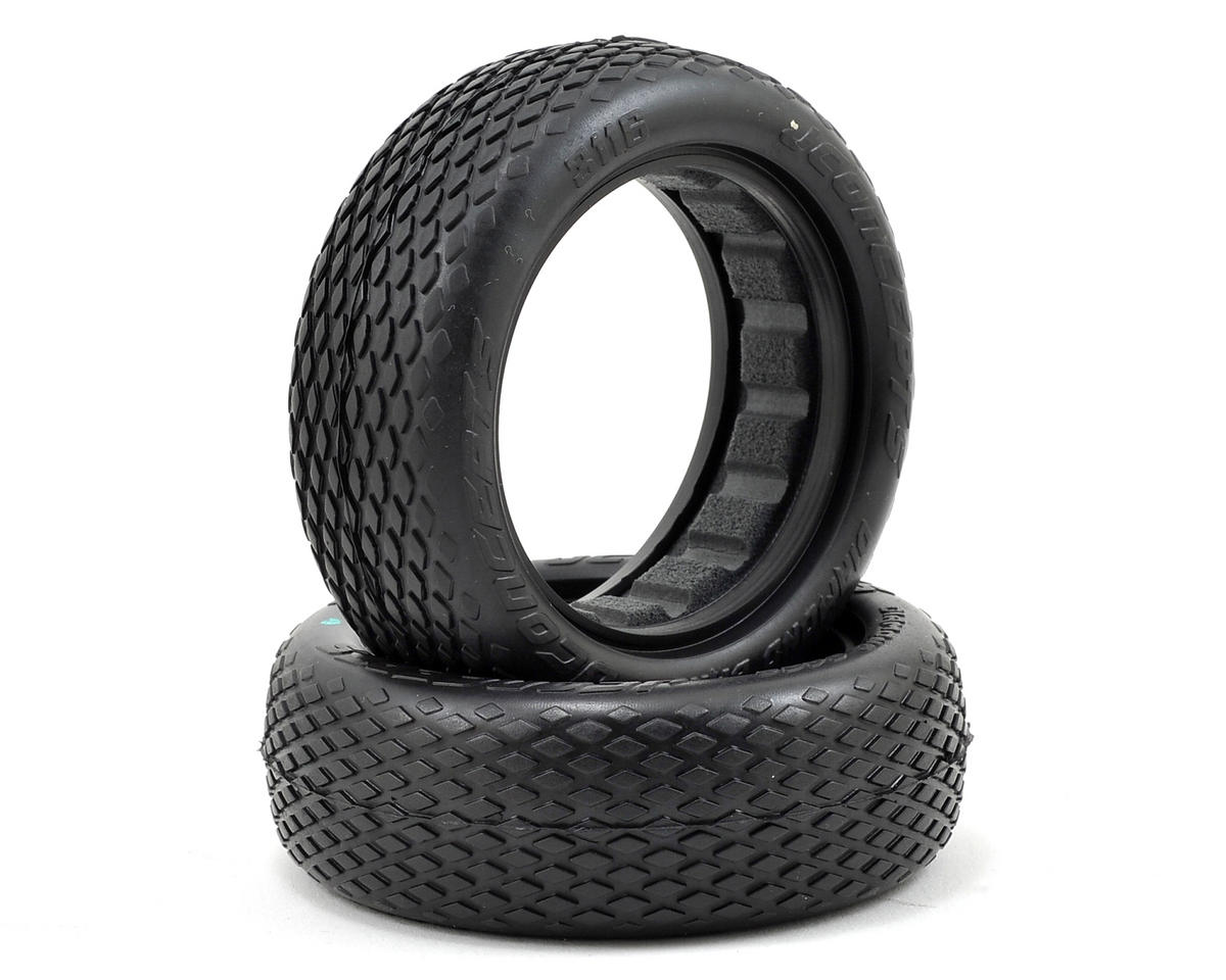 """JConcepts Diamond Bars 2.2"""" 2WD Front Buggy Tires (2) (Blue)"""