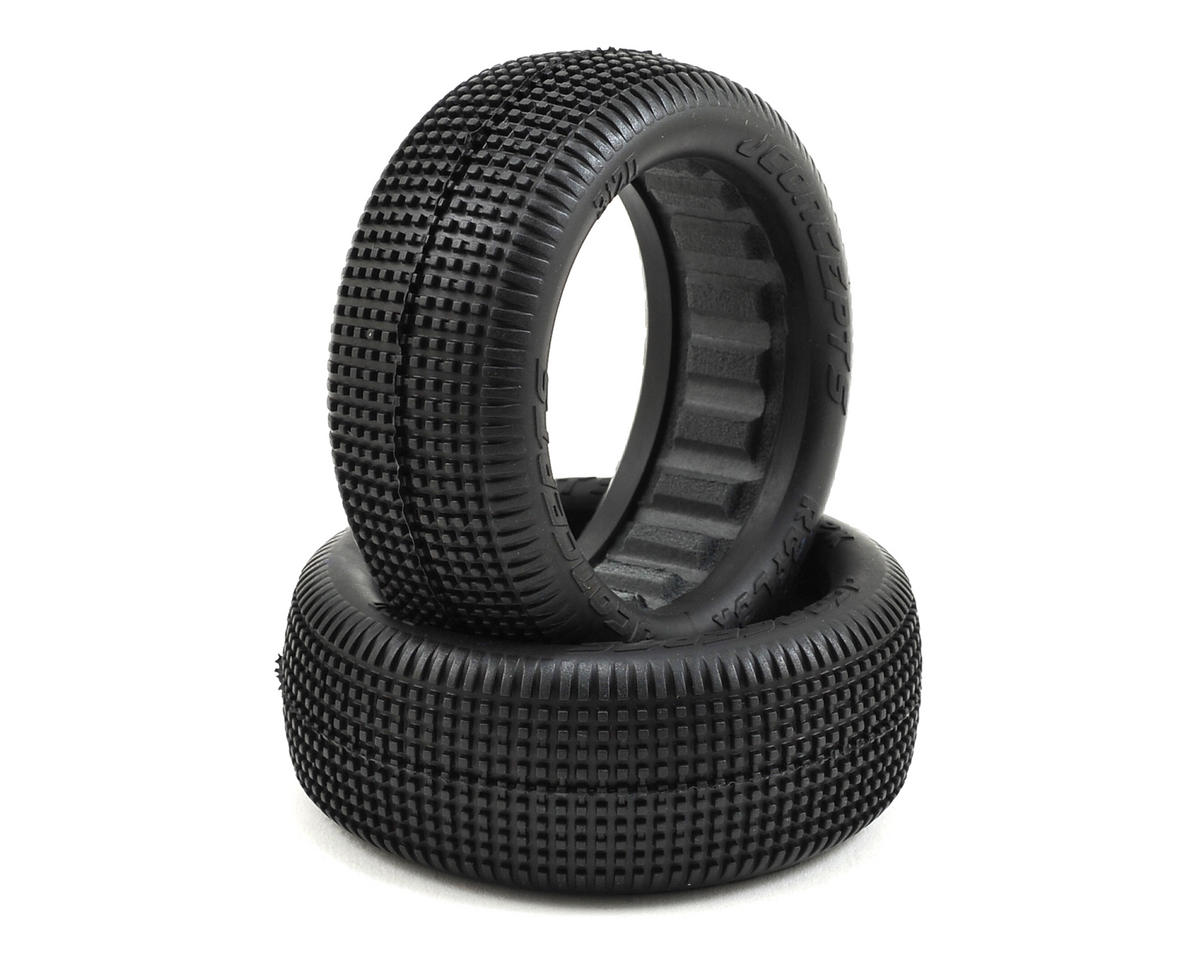 Reflex 60mm 4WD Front Buggy Tires (2) (Blue) by JConcepts