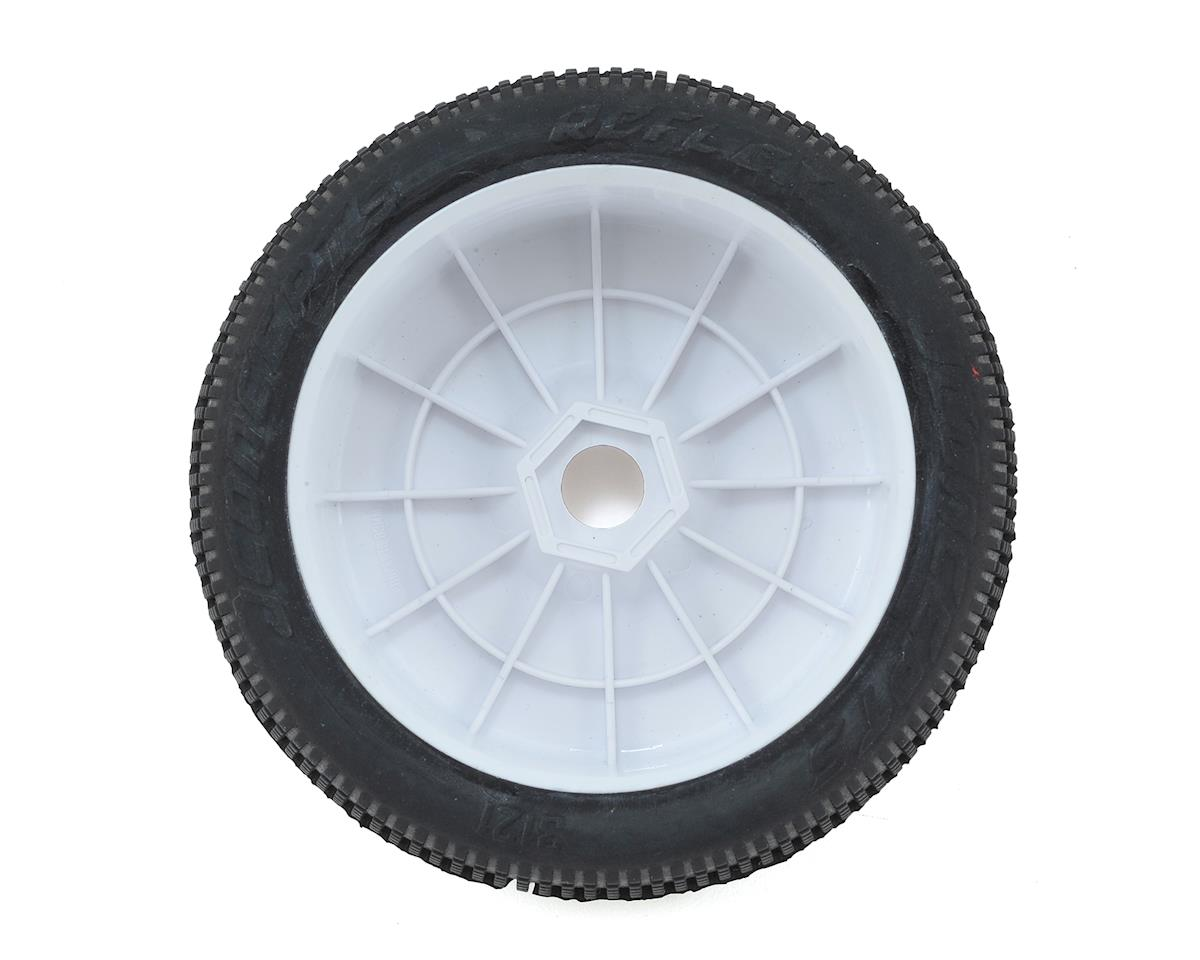JConcepts Reflex Pre-Mounted 1/8th Buggy Tires (2) (White) (Red2 - Long Wear)